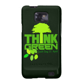 Piense la caja verde de Samsung Galaxy S2 Funda