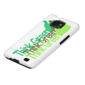 Piense la caja verde de Samsung Galaxy S2 Carcasa