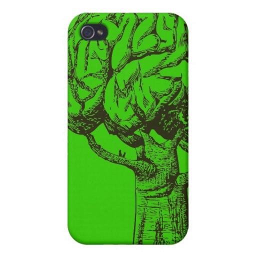 Piense la caja verde del iPhone 4 iPhone 4/4S Fundas