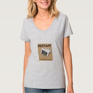 Piense la camiseta creativa playera