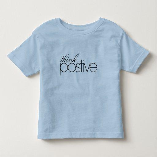 Piense la camiseta positiva del campanero del niño playeras