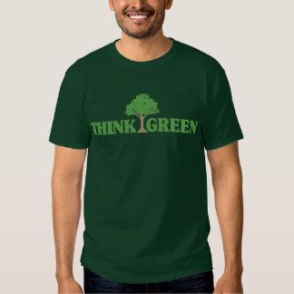 Piense la camiseta verde playera