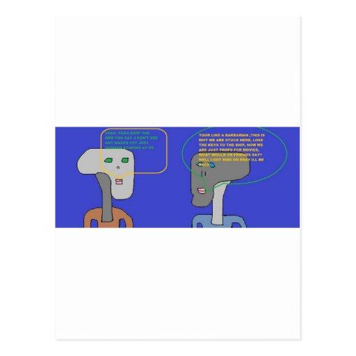 Piense la colección cinco postales