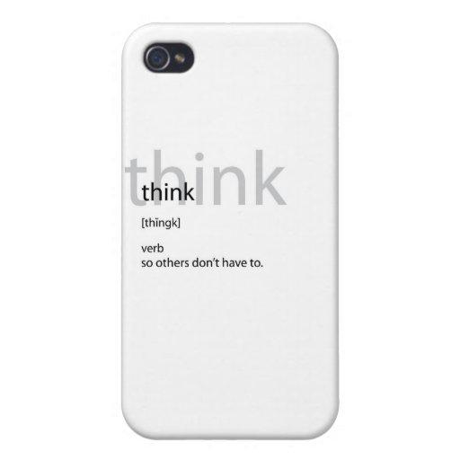 Piense la definición iPhone 4 carcasas