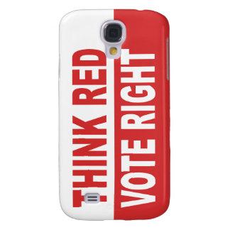 Piense la derecha roja del voto funda para galaxy s4
