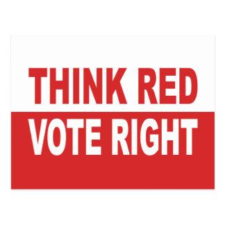 Piense la derecha roja del voto postales