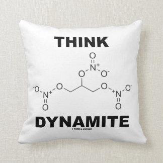 Piense la dinamita (la molécula química de la cojin