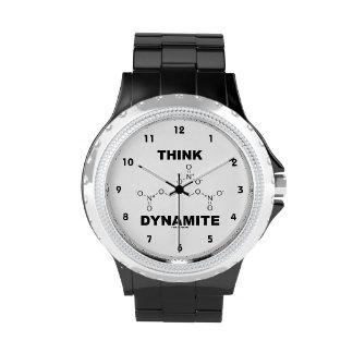 Piense la dinamita (la molécula química de la reloj