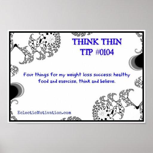 Piense la extremidad fina #0104 póster