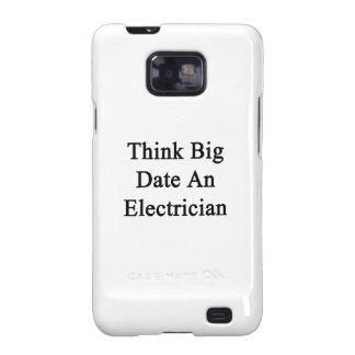 Piense la fecha grande un electricista samsung galaxy SII carcasa