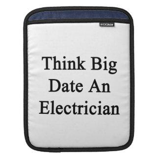 Piense la fecha grande un electricista fundas para iPads
