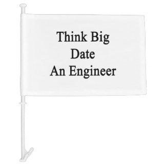 Piense la fecha grande un ingeniero
