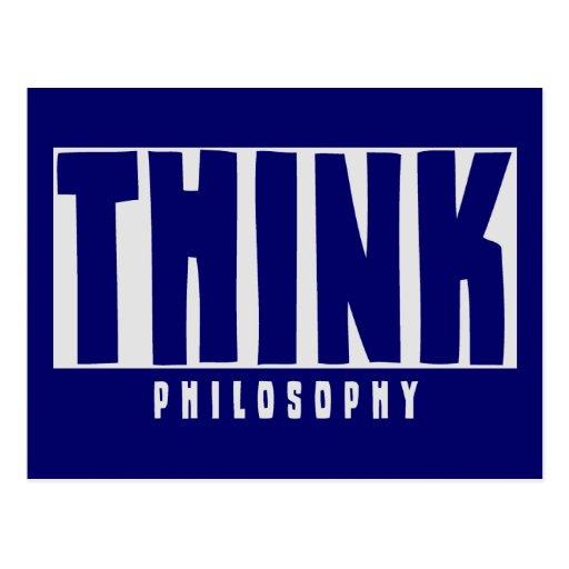 Piense la filosofía tarjetas postales