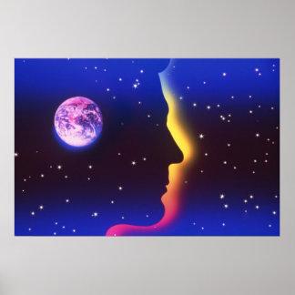 Piense la impresión de la tierra del planeta impresiones