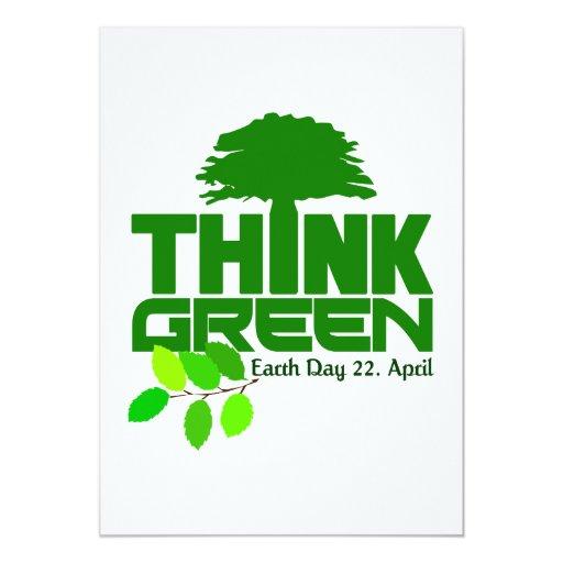 ¡Piense la invitación verde - personalizar!