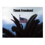 ¡Piense la libertad! Postales