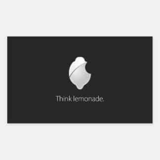 ¡Piense la limonada! Rectangular Pegatinas