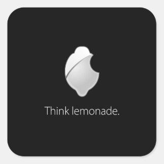 ¡Piense la limonada! Pegatina Cuadrada