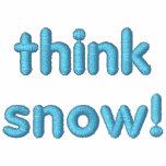 ¡Piense la nieve! Camiseta bordada