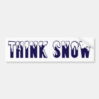 Piense la nieve pegatina para auto