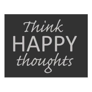 Piense la postal de motivación de los pensamientos