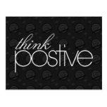 Piense la postal positiva