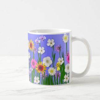 Piense la primavera taza de café