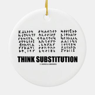 Piense la substitución (criptograma rúnico Jules Adorno Redondo De Cerámica