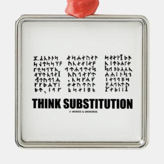 Piense la substitución (criptograma rúnico Jules Adorno Cuadrado Plateado
