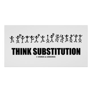 Piense la substitución (los símbolos secretos de l póster