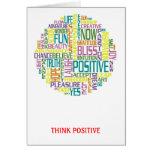Piense la tarjeta de felicitación positiva