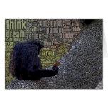 """""""Piense"""" la tarjeta de las palabras"""