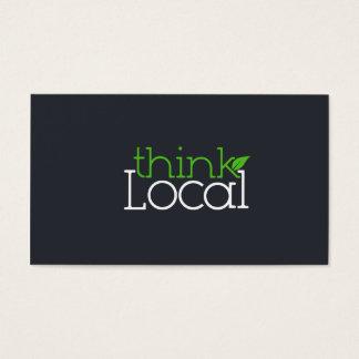 Piense la tarjeta de visita local