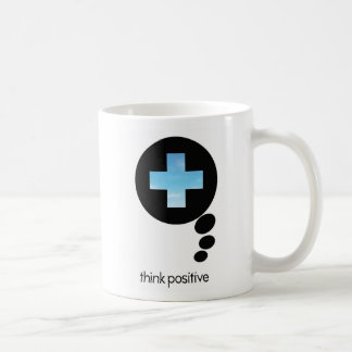 Piense la taza básica del icono positivo