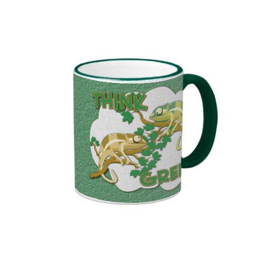 Piense la taza verde