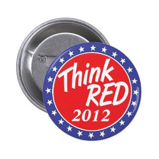 Piense las estrellas azules del botón rojo de la e