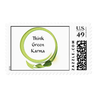 Piense las karmas verdes franqueo