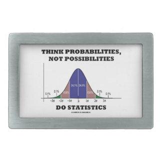 Piense las probabilidades, no estadísticas de las  hebilla de cinturón rectangular
