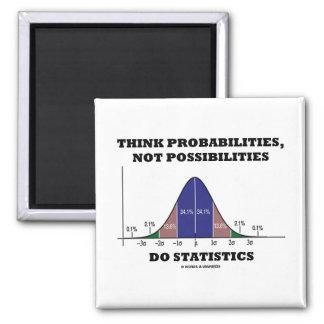 Piense las probabilidades, no estadísticas de las imán cuadrado