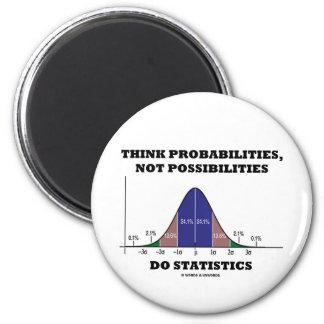 Piense las probabilidades, no estadísticas de las iman