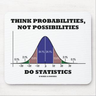 Piense las probabilidades no estadísticas de las alfombrilla de raton