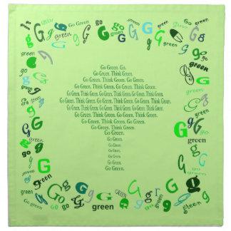 piense las servilletas de tabla verde