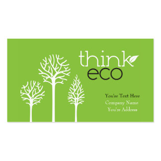 Piense las tarjetas de visita de Eco
