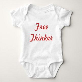 Piense libremente mameluco de bebé