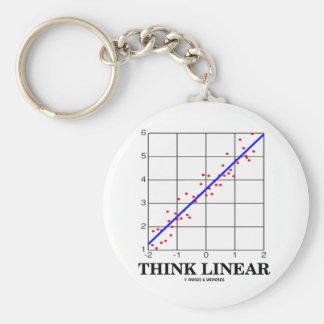 Piense linear (las estadísticas de la regresión li llavero redondo tipo pin