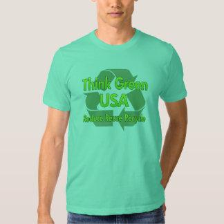 Piense los E.E.U.U. verdes Poleras