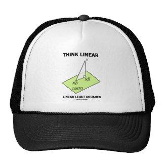 Piense los mínimos cuadráticos lineares lineares ( gorros bordados