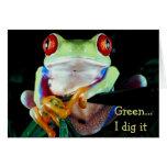 Piense los notecards verdes