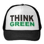 ¡Piense los productos verdes y los diseños! Gorros Bordados
