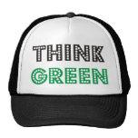 ¡Piense los productos verdes y los diseños! Gorro